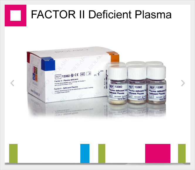 BIOLABO FACTOR II Deficient Plasma